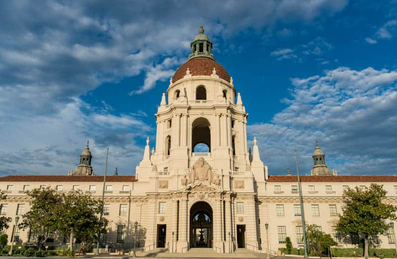 The beautiful Pasadena City Hall in California