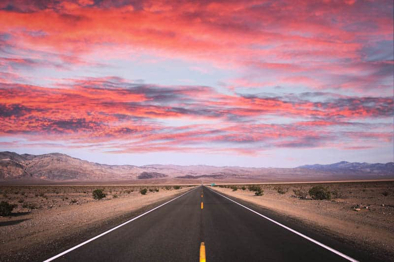 Death Valley in California at Sunset