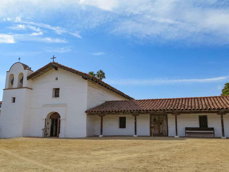 The Chapel at El Presidio de Santa Barbara in California