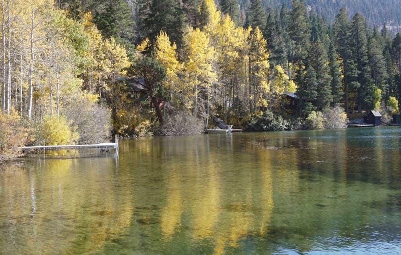 Gull Lake in Eastern California the Fall