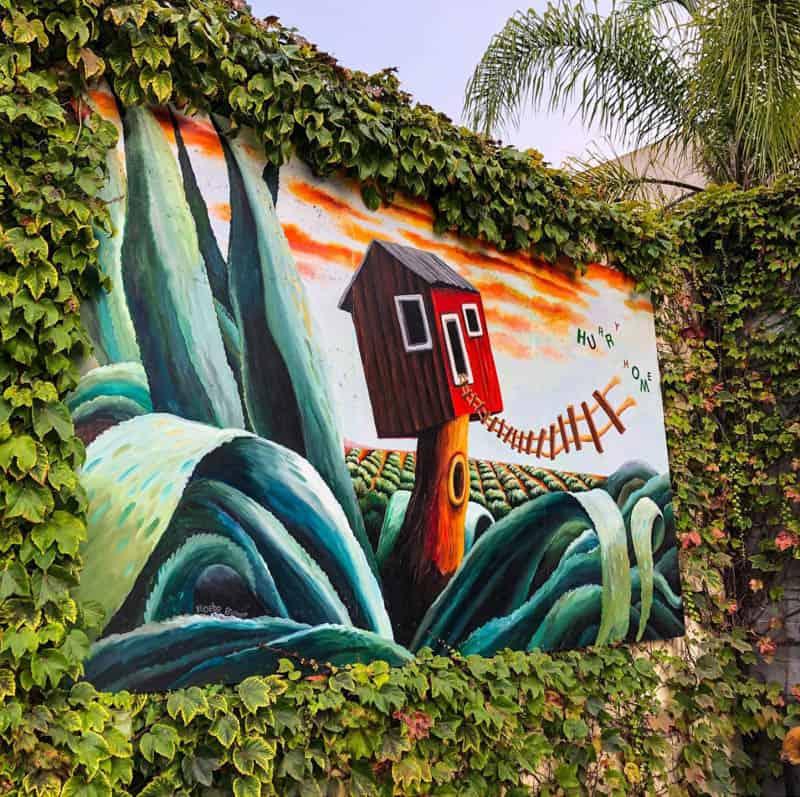 Hurry Home Mural by Phoebe Brunner in Santa Barbara California