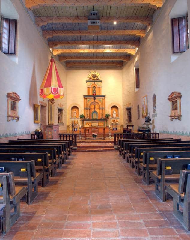 Interior of the Mission Basilica in san Diego California
