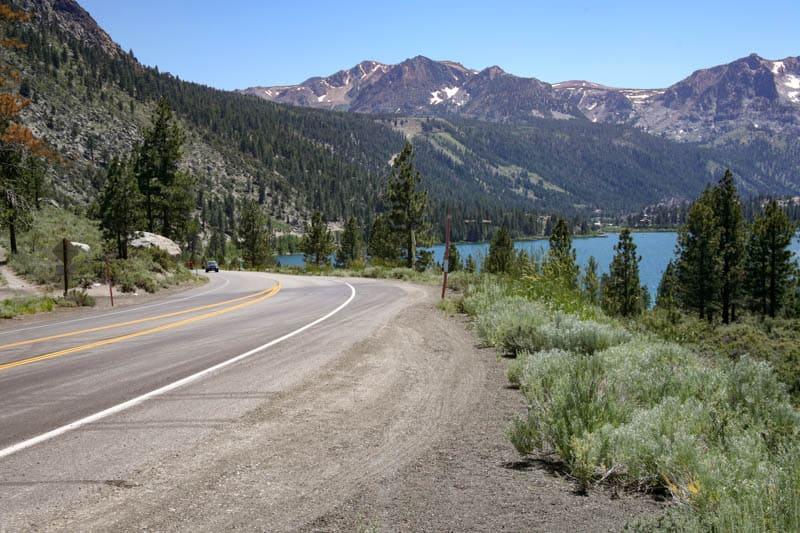 June Lake Loop in the Eastern Sierra of California, in the Summer