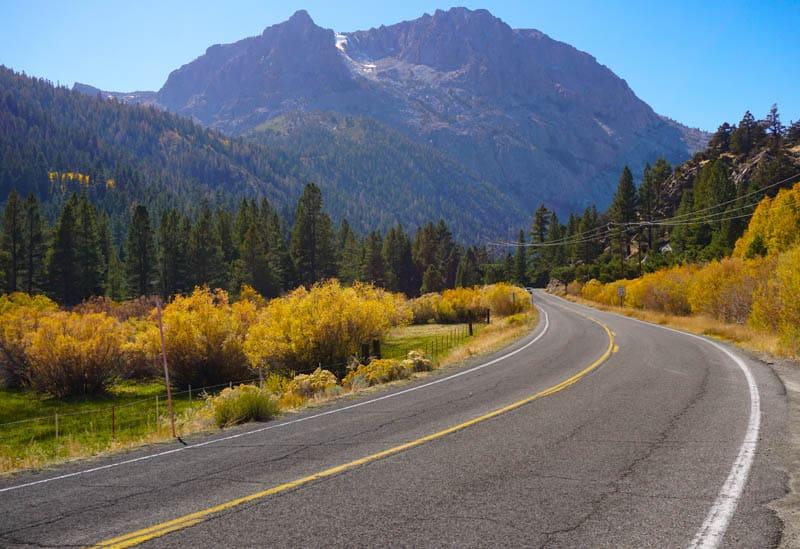 June Lake Loop Road in Eastern California