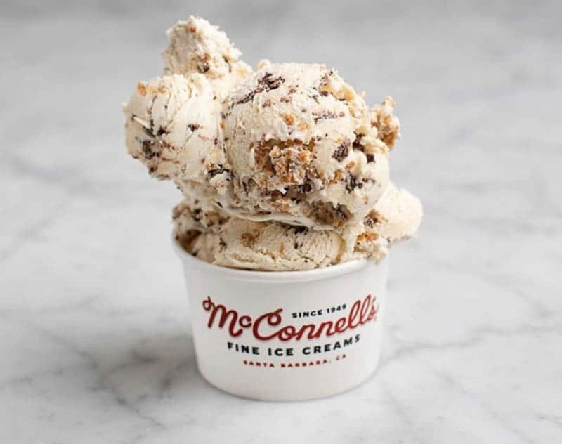 Double Peanut Butter Chip Ice Cream from McConnell's in Santa Barbara California