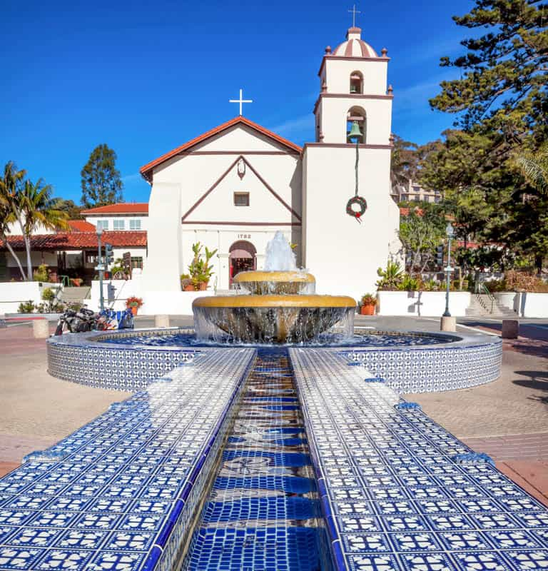 Mission San Bonaventura in Southern California
