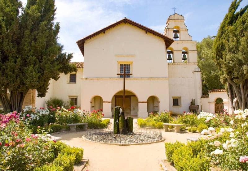 The Church at Mission San Juan Bautista in California