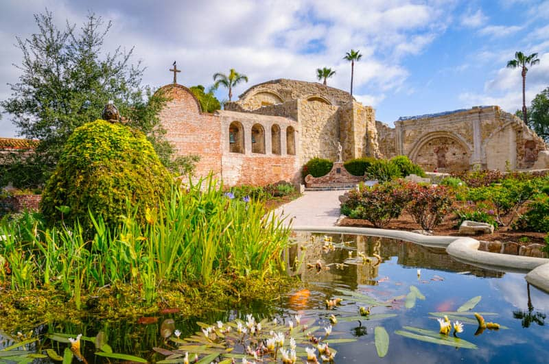 Mission San Juan Capistrano is one of the most visited California missions.