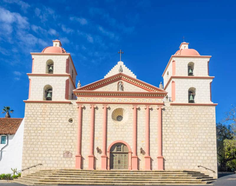 Mission Santa Barbara in Southern California