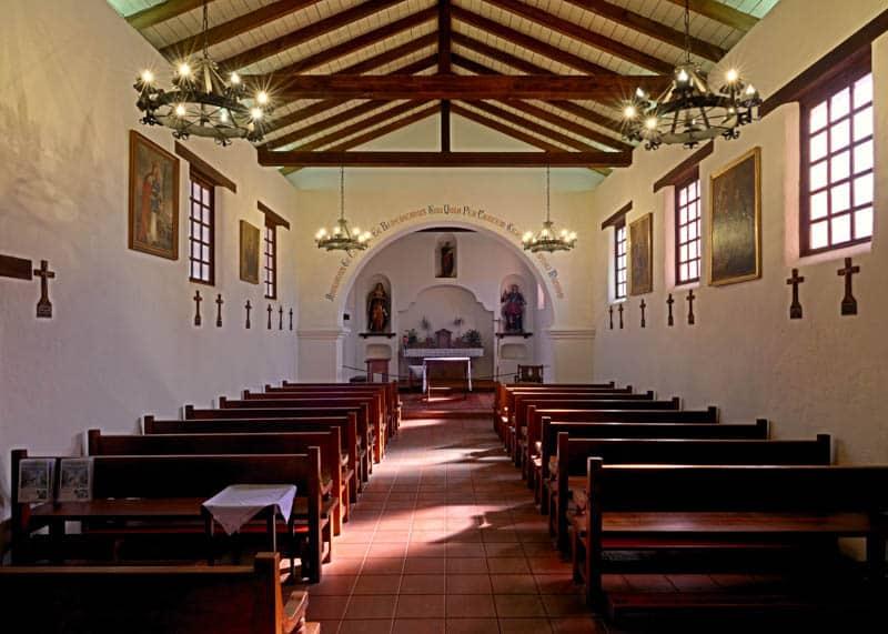 Church Interior, Mission Santa Cruz, California