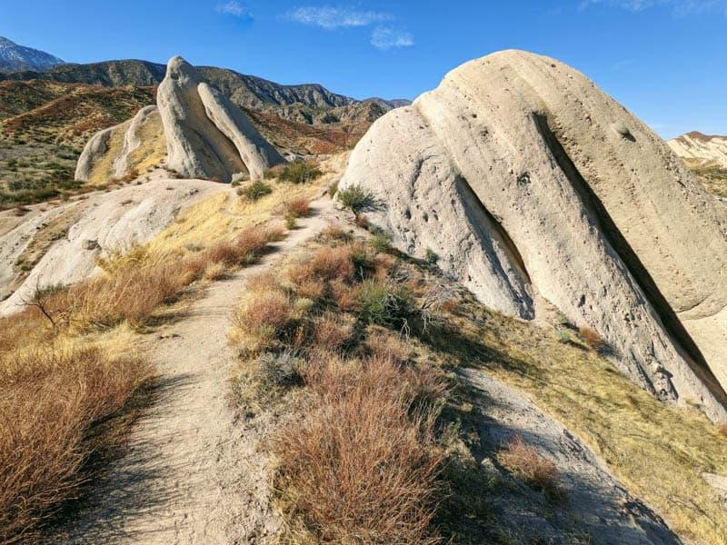 Trail at Mormon Rocks in Phelan, California