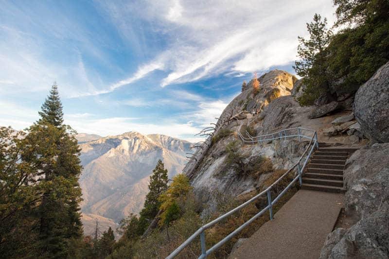 Moro Rock in Sequoia National Park California