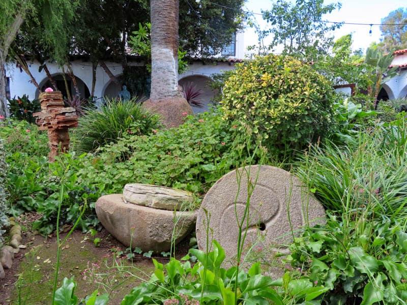 Mortar in San Diego Mission Garden in California