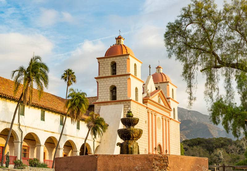 The Santa Barbara Spanish Mission is known as Queen of the Missions.