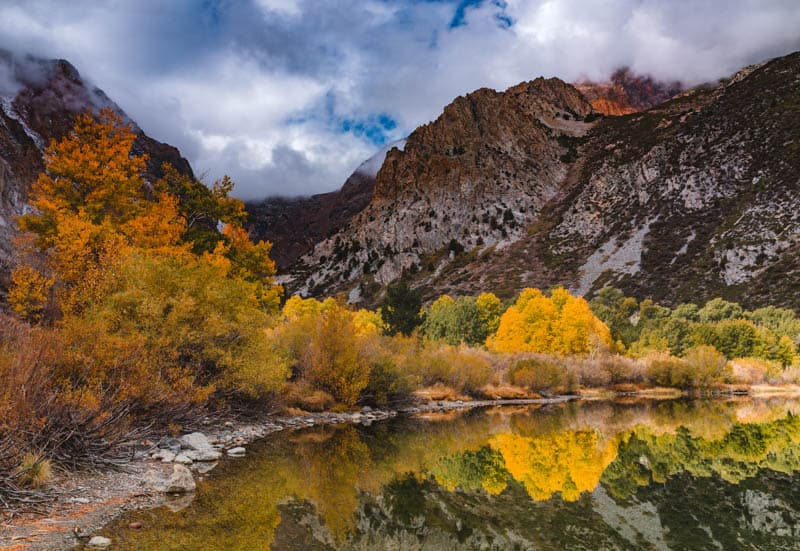 Parker Lake, California, in the fall