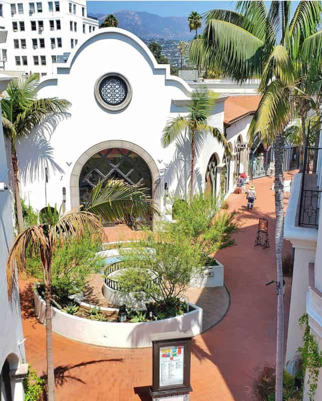 Paseo Nuevo Shopping Mall in Santa Barbara California
