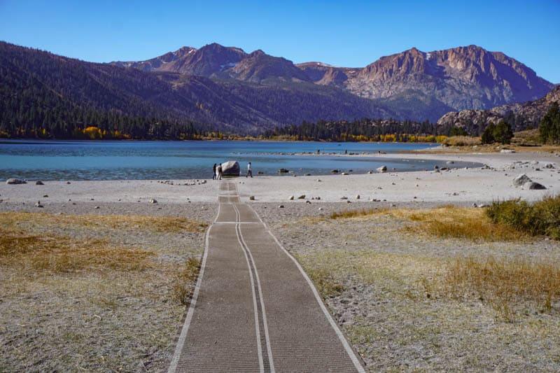 Path to June Lake Beach in Eastern California