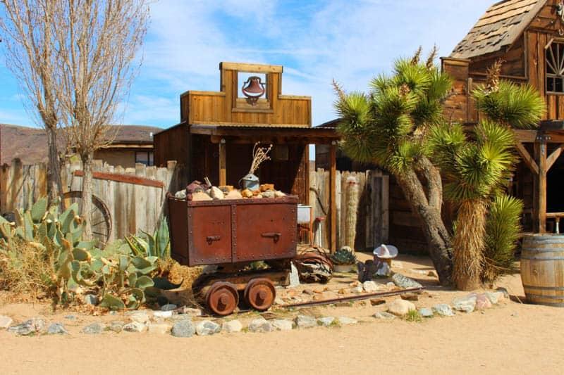 An old wagon in Pioneertown in California