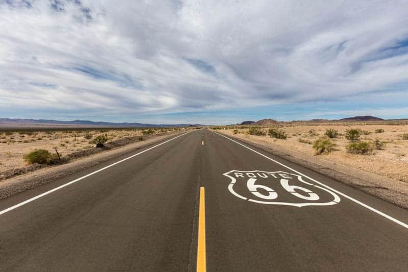 Route 66 in California near Amboy