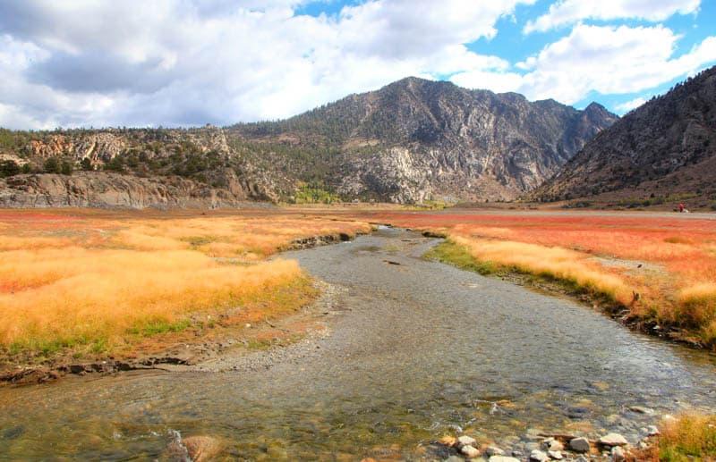 Rush Creek near Grant Lake in the Eastern Sierra in the fall