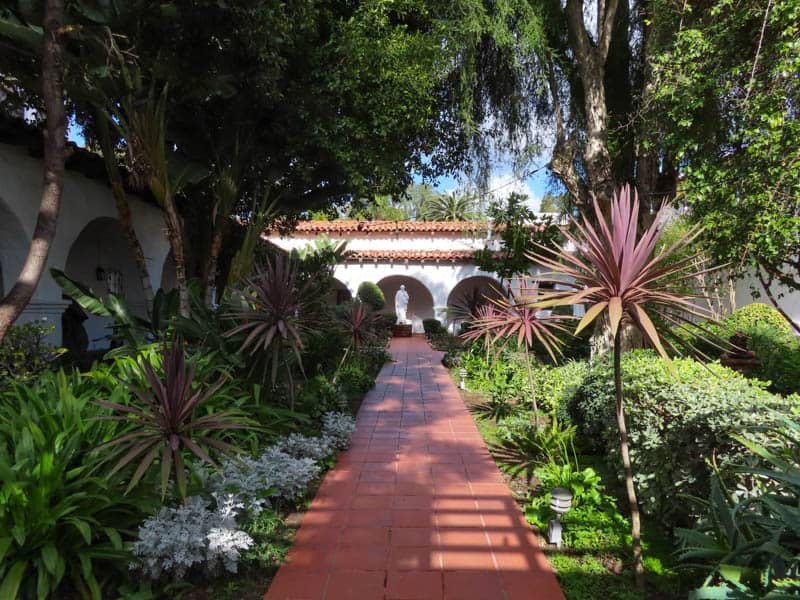 Garden at the San Diego Mission in California