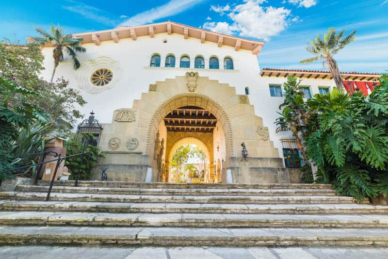 Entrance to the Santa Barbara County Courthouse in California