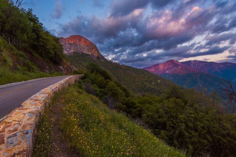 Generals Highway Sequoia National Park California