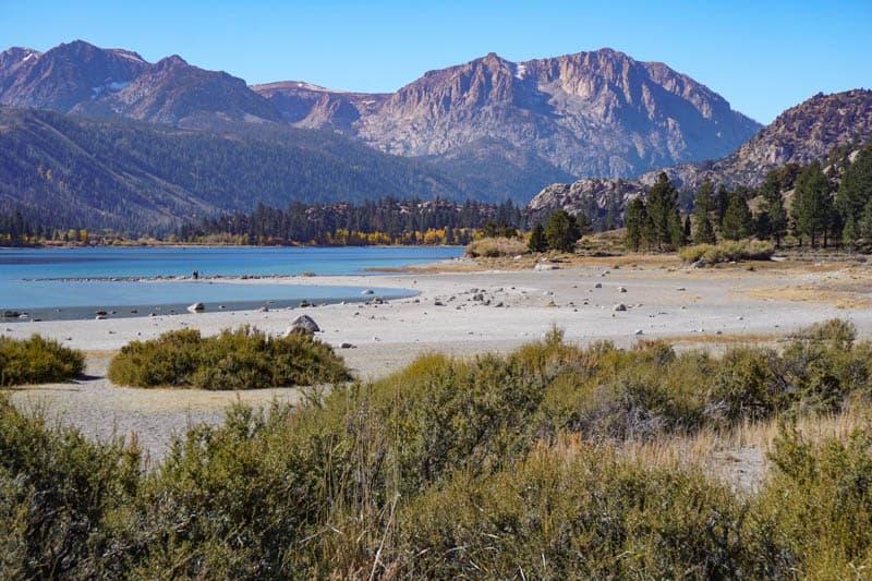 Shore of June Lake in California