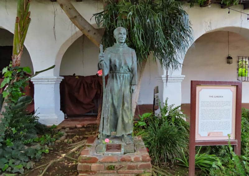 Statue of Father Serra at the San Diego Mission. Rub the toe for good luck!