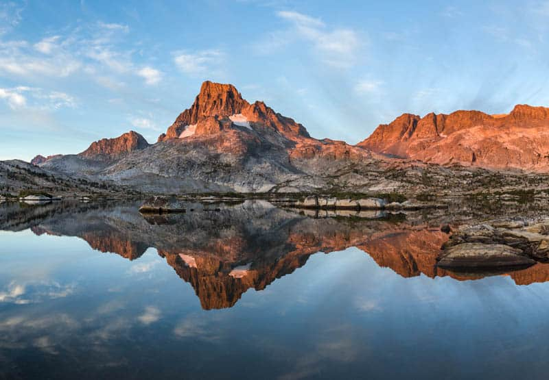 Reflections at Thousand Island Lake in California