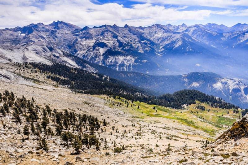 View from Alta Peak in Sequoia NP California