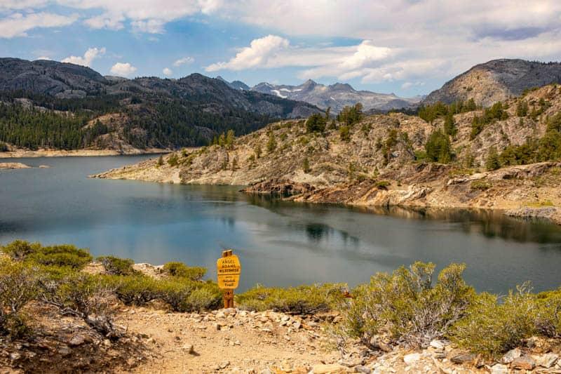 View of Gem Lake from the Rush Creek Pack Trail at June Lake California
