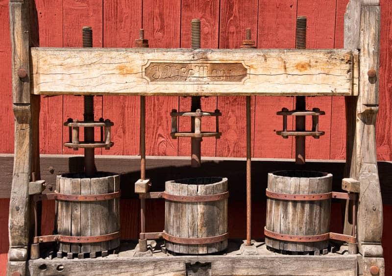 Vintage Wine Presses in Paso Robles California