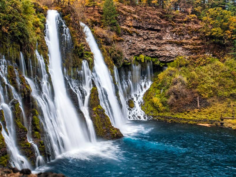 A view of he rock face around Burney Falls in California