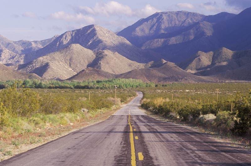 Driving Anza-Borrego Desert State Park in California