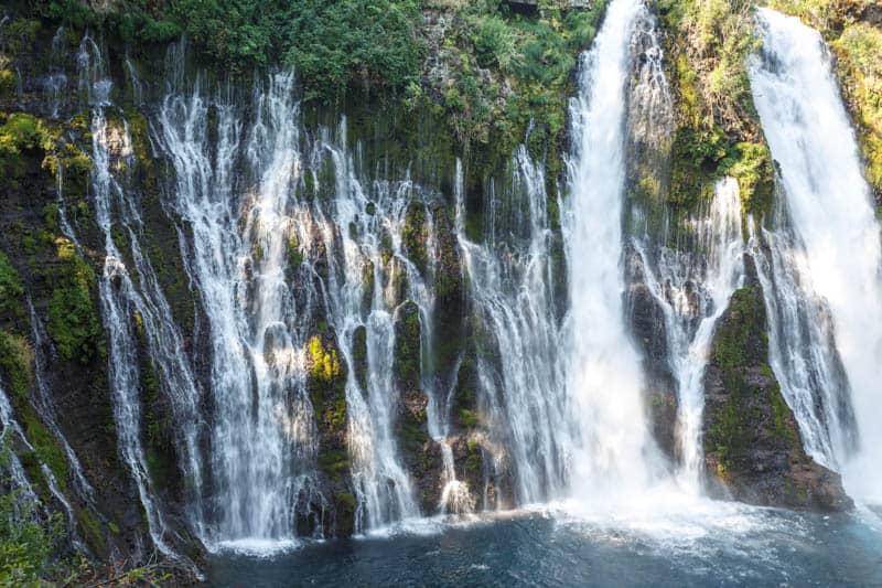 Burney Falls in California flows year round