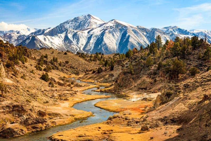 Hot Creek Geologic Site Mammoth Lakes California