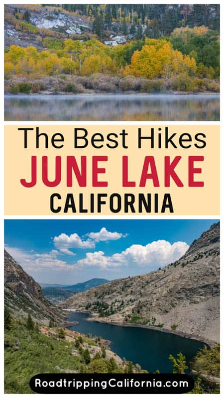 Discover the best hikes in June Lake California! Trails lead to alpine lakes and stunning Eastern Sierra scenery for great workouts!