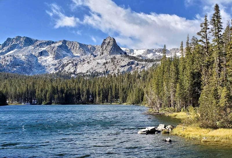 Views along the Lakes Basin Path in Mammoth Lakes California