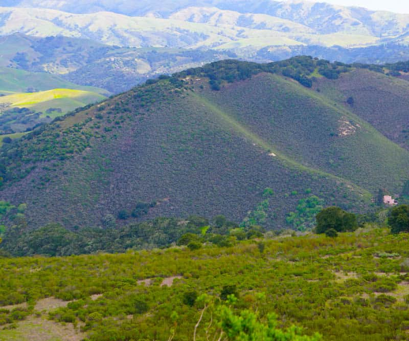 View along Laureles Grade Road, Monterey-Carmel Valley in California