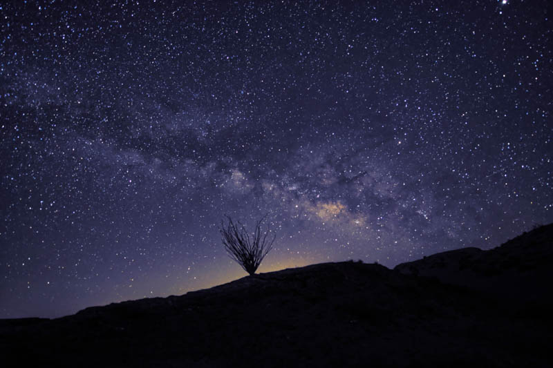 Milky Way at Anza Borrego Desert State Park in Southern california