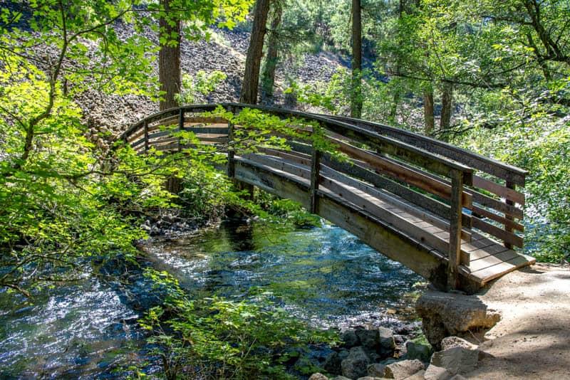 Bridge over Burney Creek at Burney Falls in California