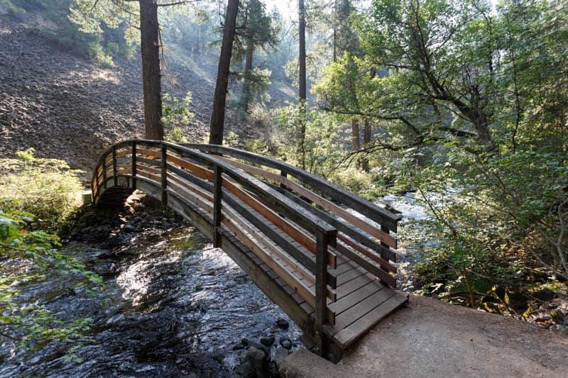 The Rainbow Bridge over Burney Creek in northeastern California