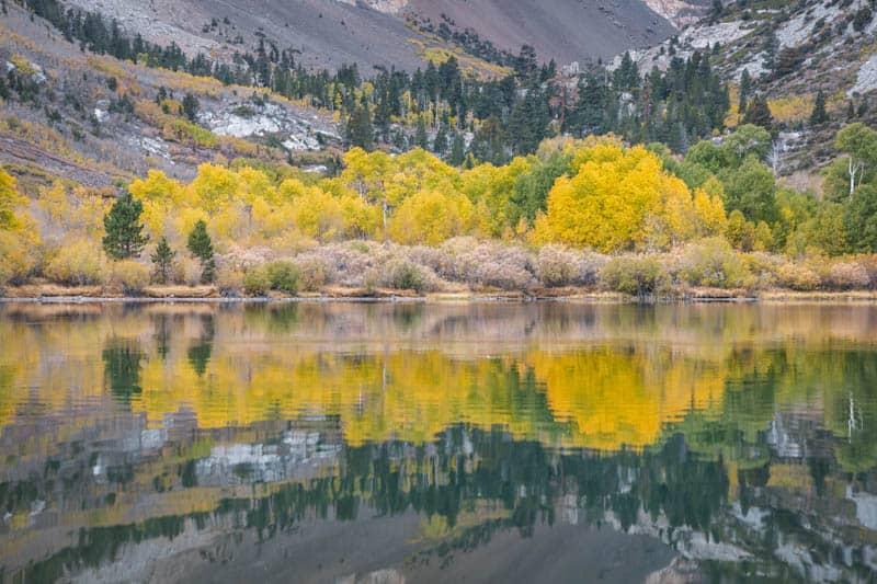 Reflections at Parker Lake in June Lake, California