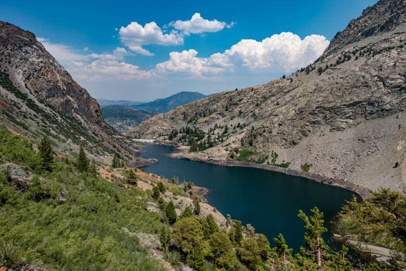 View from Rush Creek Trail in June Lake California