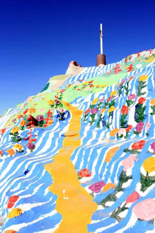 Art at Salvation Mountain near Slab City in California