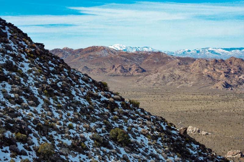 Ryan Mountain Hike, Joshua Tree NP, in Winter