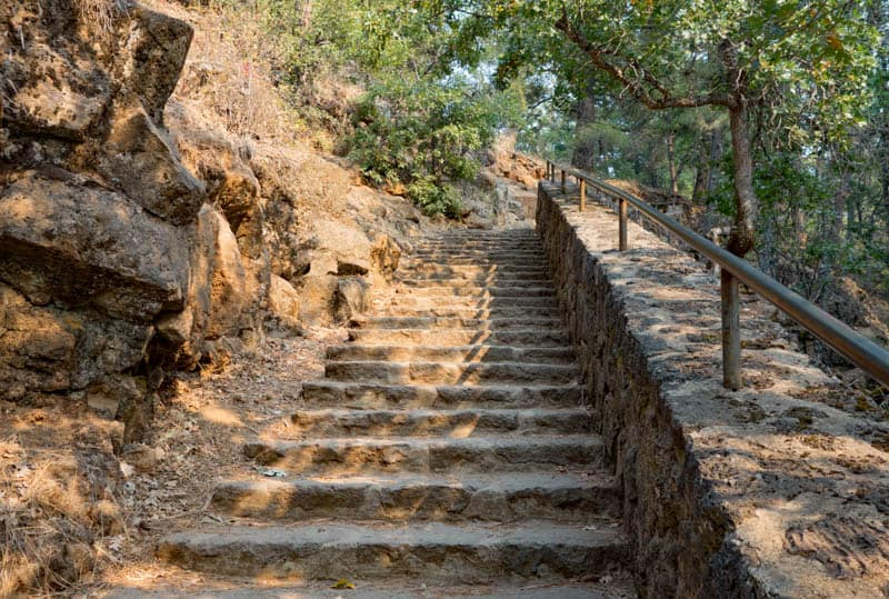 Steps on the Burney Falls Trail in California