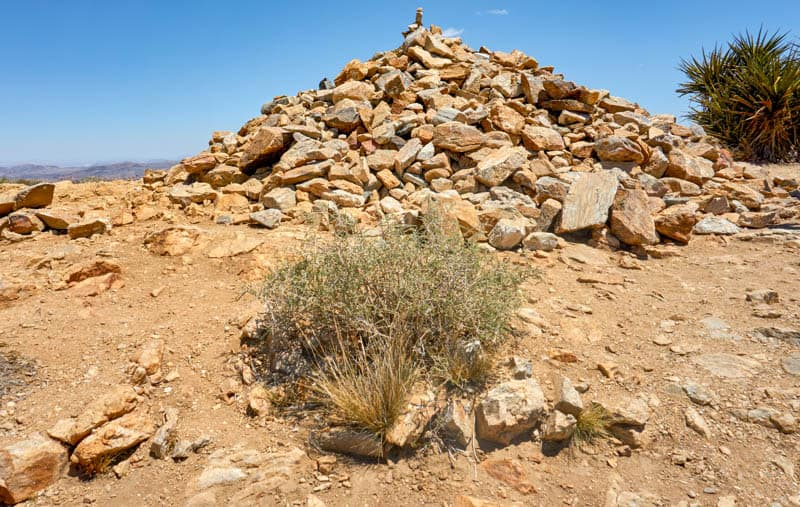 Pile of Boulders at Summit of Ryan Mountain in California