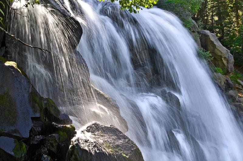 Twin Falls in Mammoth Lakes, California